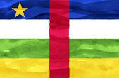 Verniciato bandiera della repubblica centrafricana — Foto Stock