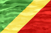 Painted flag of Congo Republic — Stock Photo
