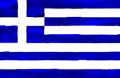 Bandiera dipinta della grecia — Foto Stock
