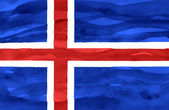 Painted flag of Iceland — Stock Photo