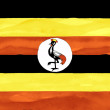 Painted flag of Uganda — Stock Photo #26731459