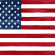 Stock Photo: Painted flag of United States of America