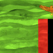 Stock Photo: Painted flag of Zambia