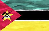 Verniciato bandiera del mozambico — Foto Stock