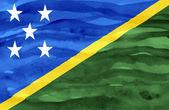 окрашенные флаг соломоновых островов — Стоковое фото