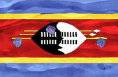 Painted flag of Swaziland — Stock Photo