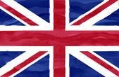 окрашенные флаг соединенного королевства — Стоковое фото