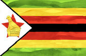Verniciato bandiera dello zimbabwe — Foto Stock