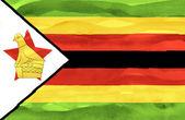 Gemalte flagge simbabwes — Stockfoto
