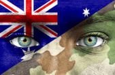 Soldier from Australia — Stock Photo