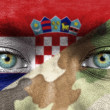 Soldier from Croatia — Stock Photo