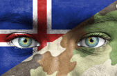 Soldier from Iceland — Stock Photo