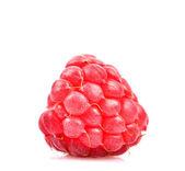 Raspberry isolated on white background macro shot — Stock Photo