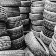 Stock Photo: Group of tyres