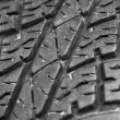 Close up of old car tire texture background — Stock Photo