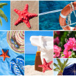 Collage of beautiful summer photos -  Summer vacation concept — Stock Photo