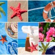 Collage of beautiful summer photos - Summer vacation concept — Stock Photo #30497563