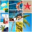 Collage of summer beach images - Holidays concept  — Stock Photo