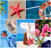 Collage of beautiful summer photos - Summer vacation concept — Foto de Stock