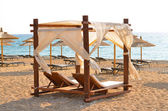 Luxury beach bed — Stock Photo