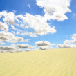 Desert and blue sky — Stock Photo