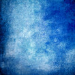 Blue grunge paint wall background or texture — Stock Photo