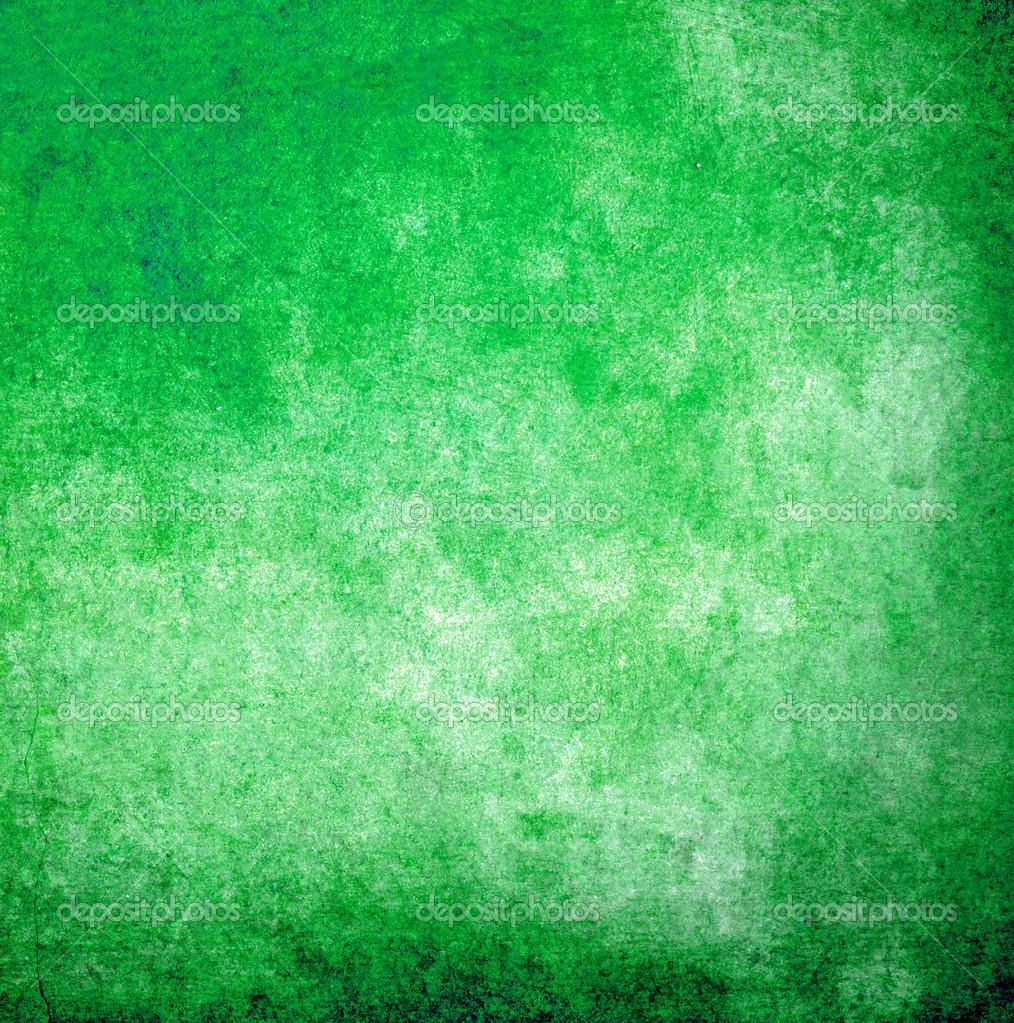 Green On White Sponge Painting