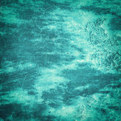 Turquoise grunge background or texture — Stock Photo