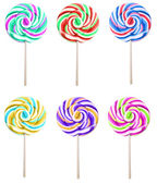 Set of colorful lolipops isolated on white background — Stock Photo