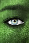 Human with lizzard skin texture - Mutation concept — Stock Photo