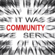 Stock Photo: Blured text with focus on COMMUNITY