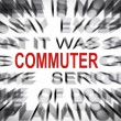 Blured text with focus on COMMUTER — Foto Stock