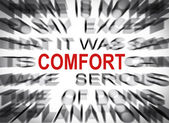 Blured text with focus on COMFORT — Stock Photo