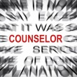 Blured text with focus on COUNSELOR — Stock Photo #33910507