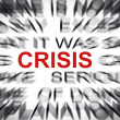 Stock Photo: Blured text with focus on CRISIS