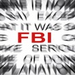 Blured text with focus on FBI — Stock Photo #33911173