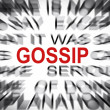Blured text with focus on GOSSIP — Stock Photo