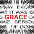 Blured text with focus on GRACE — Foto Stock