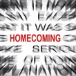 Stock Photo: Blured text with focus on HOMECOMING
