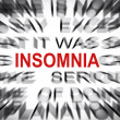 Stock Photo: Blured text with focus on INSOMNIA
