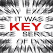 Blured text with focus on KEY — Stock Photo