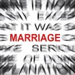 Blured text with focus on MARRIAGE — Stock Photo #33916413
