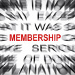 Stock Photo: Blured text with focus on MEMBERSHIP