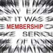 Blured text with focus on MEMBERSHIP — Stock Photo