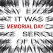 Blured text with focus on MEMORIAL DAY — Stock Photo