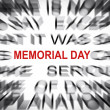 Blured text with focus on MEMORIAL DAY — Stock Photo #33916559
