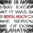 Stock Photo: Blured text with focus on MENTAL HEALTH