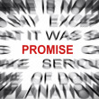 Blured text with focus on PROMISE — Stock Photo