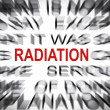 Blured text with focus on RADIATION — Stock Photo #33918967