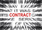 Blured text with focus on CONTRACT — Stock Photo